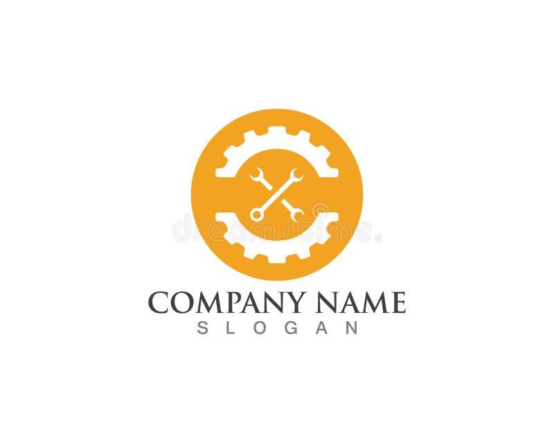 Przekładni położenia logo royalty ilustracja