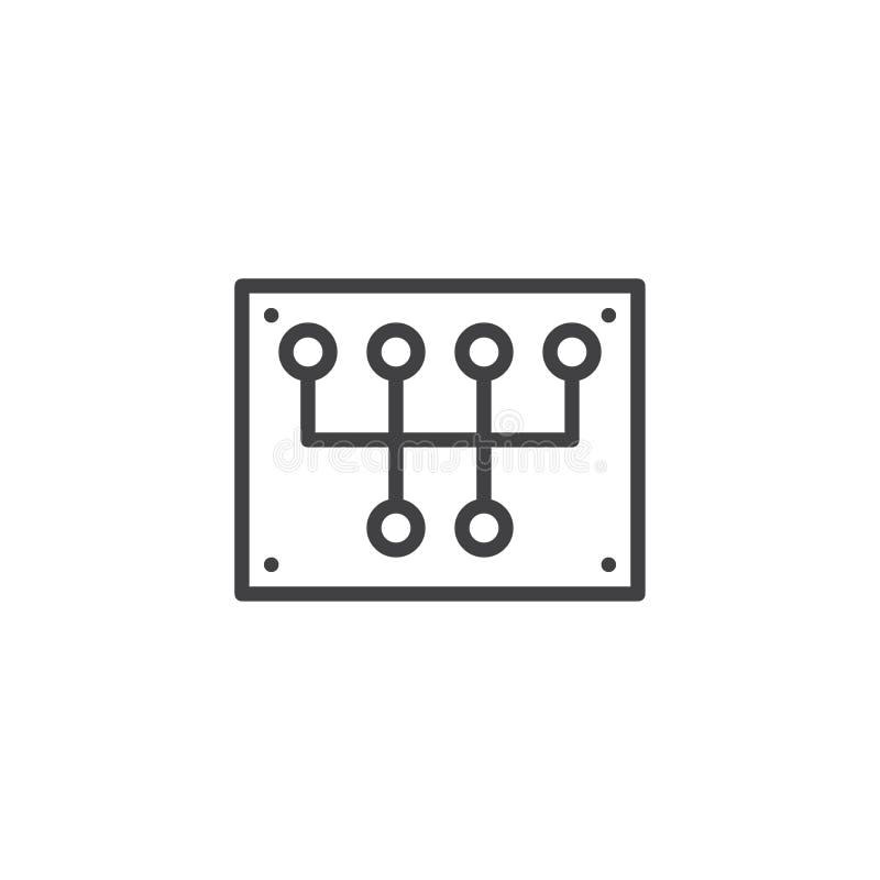 Przekładni przesunięcia linii ikona royalty ilustracja