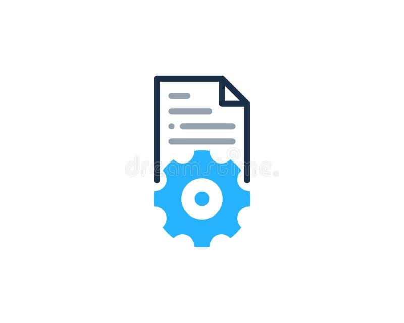 Przekładnia dokumentu ikony loga projekta Narzędziowy element ilustracja wektor