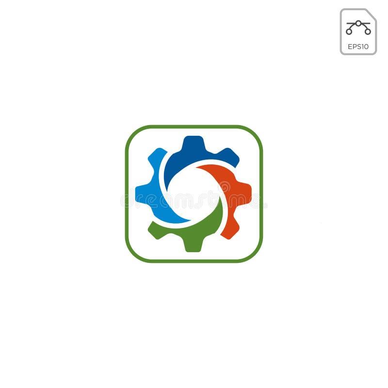 przekładnia logo projekta abstrakcjonistyczny biznesowy wektor odizolowywający ilustracja wektor