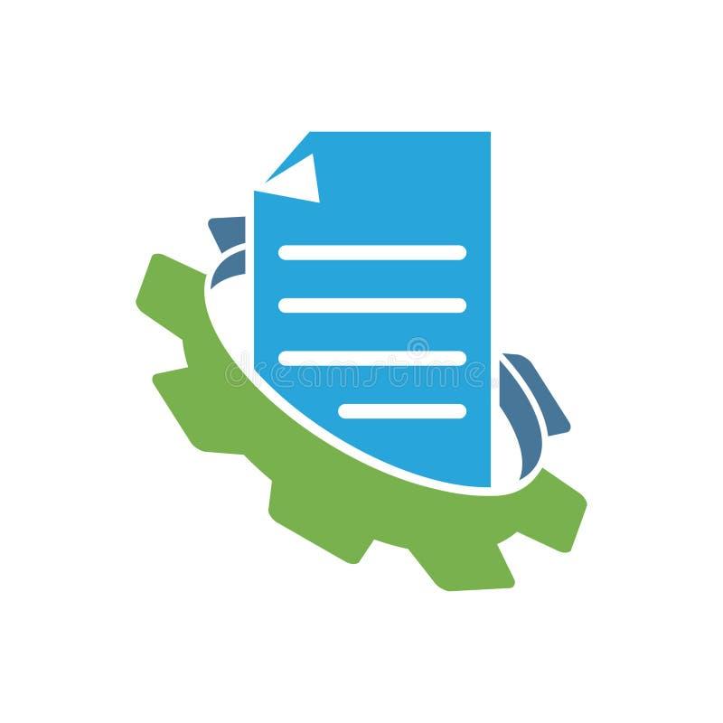 Przekładnia logo projekta szablonu wektoru Biznesowa ikona ilustracja wektor