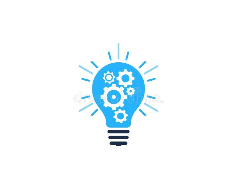 Przekładnia pomysłu ikony loga projekta Narzędziowy element ilustracja wektor