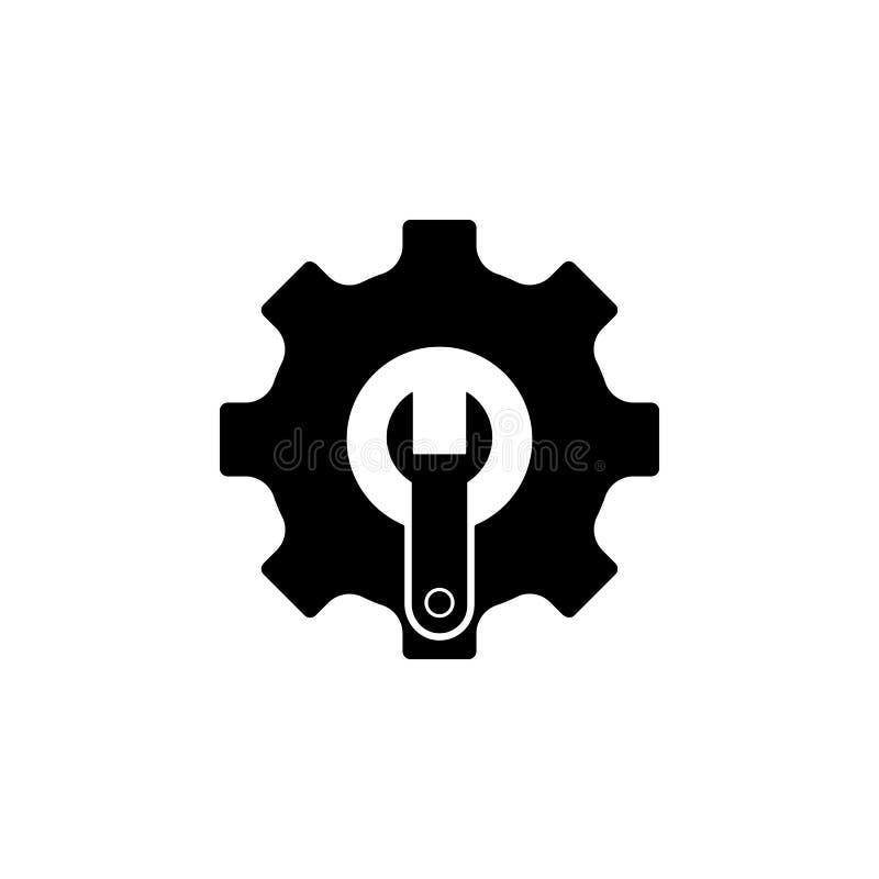 Przekładnia, wyrwanie ikona Element remontowa ikona dla mobilnych pojęcia i sieci apps Szczegółowa przekładnia, wyrwanie ikona mo ilustracja wektor