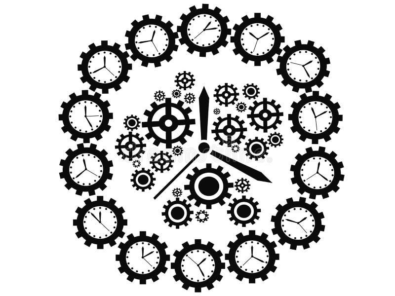 Przekładnia zegar ilustracji