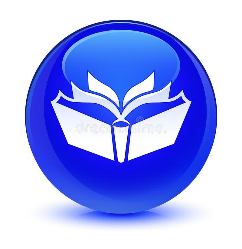 Przekładowej ikony szklisty błękitny round guzik royalty ilustracja