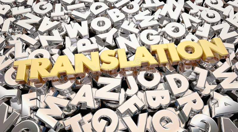 Przekładowy języków obcych listów słowo ilustracja wektor