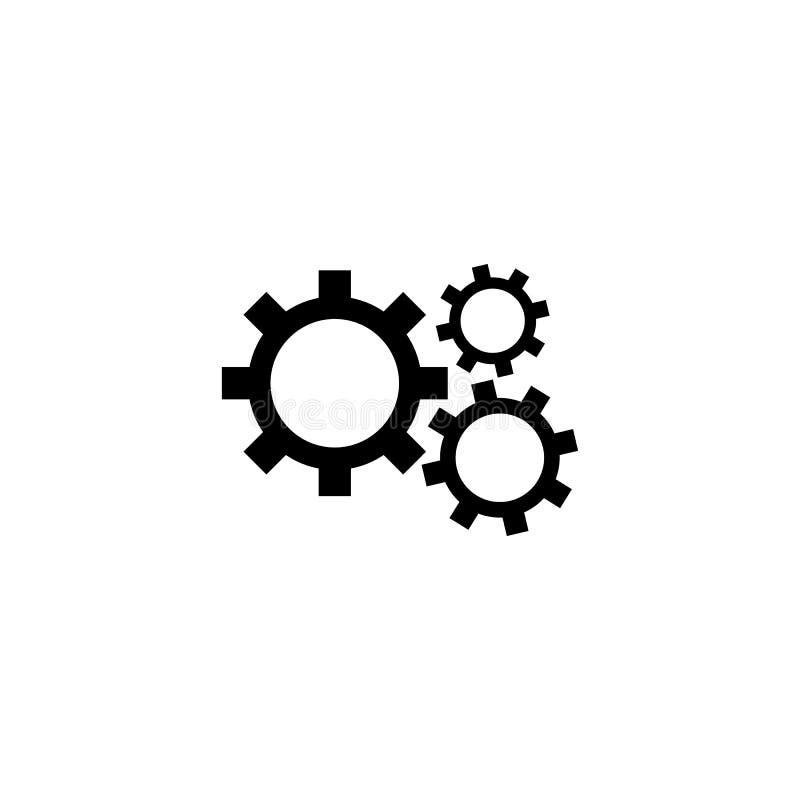 Przek?adni ikona wektoru szyldowy symbol odizolowywający na białym tle EPS10 royalty ilustracja