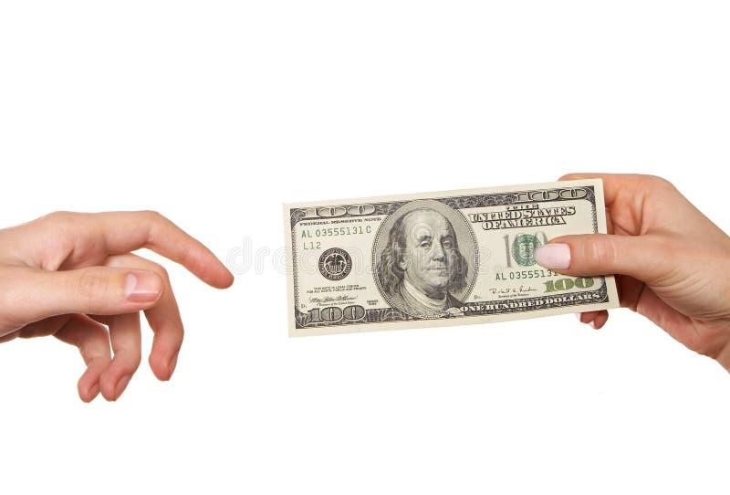 przekazywanie pieniędzy fotografia stock