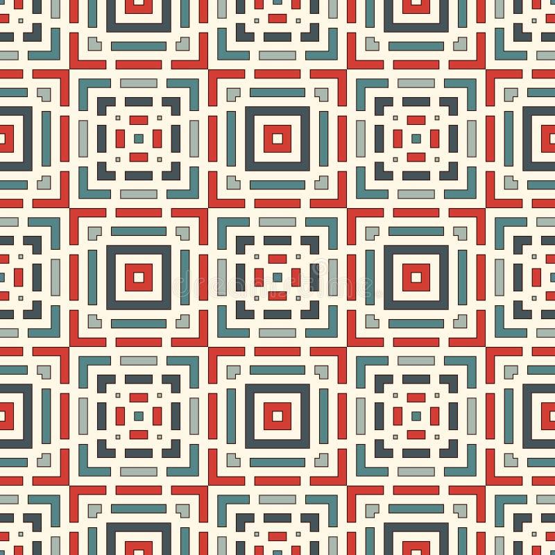 Przeklęty linia abstrakta tło Bezszwowy wzór z geometrycznym motywem Prosty symmetric ornament royalty ilustracja