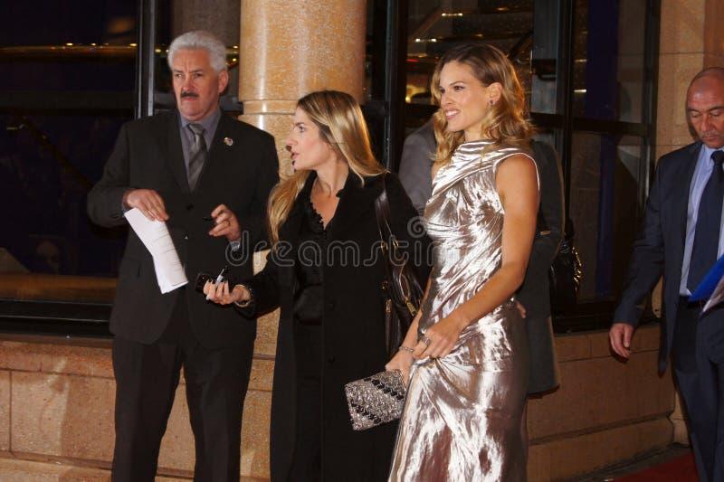 przekonania Hilary premiera swank fotografia royalty free
