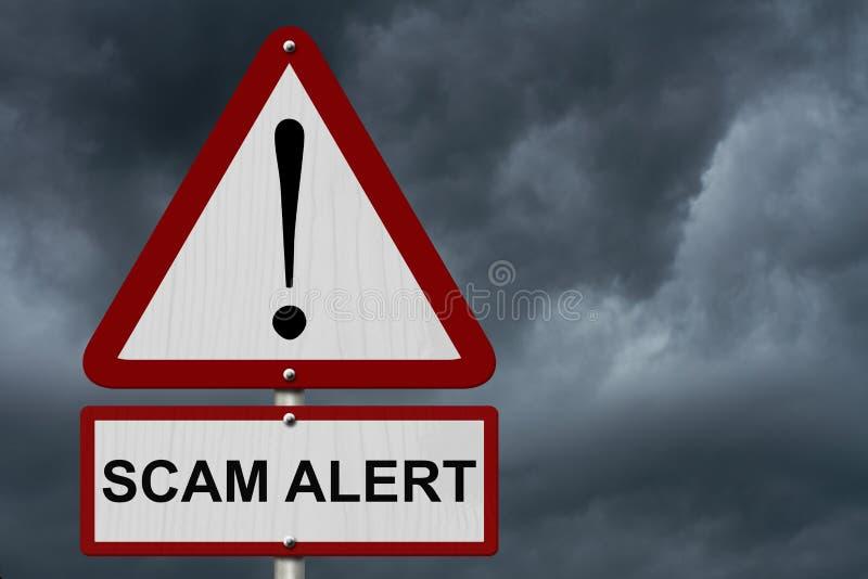 Przekrętu ostrzeżenia ostrożności znak obrazy stock