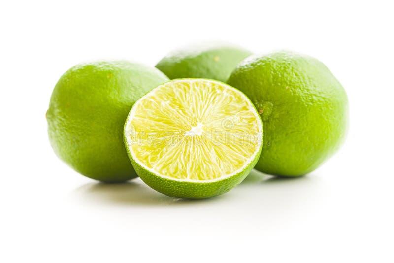 Przekrawający zielony wapno zdjęcia stock