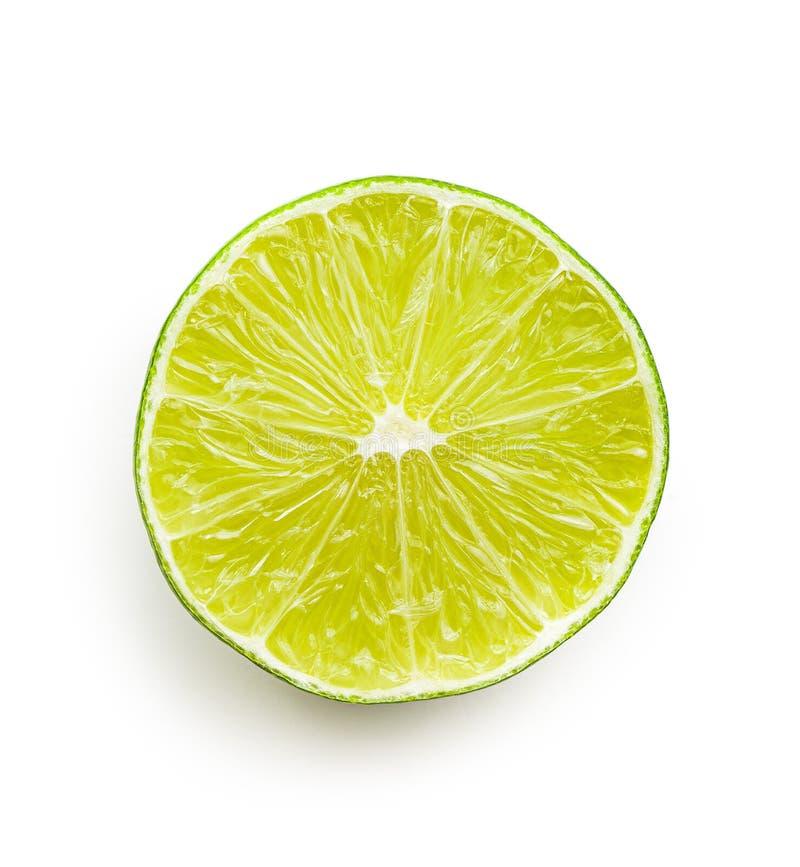 Przekrawający zielony wapno obraz stock
