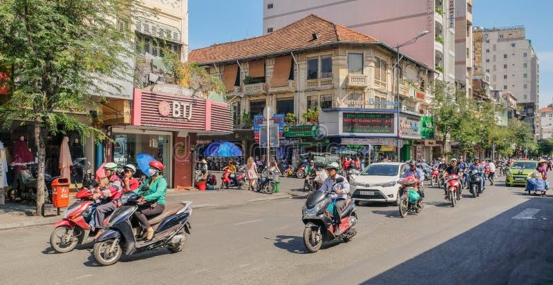 Przekrwione ulicy Ho Chi Minh zdjęcie stock