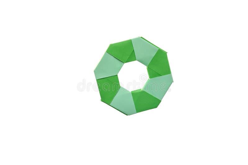 Przekształcać ninja gwiazdowego origami zdjęcie stock