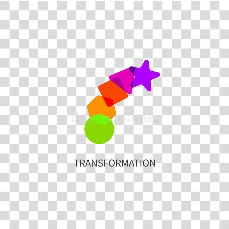 Przekształcenie logo, zmiana ikony ilustracja wektor