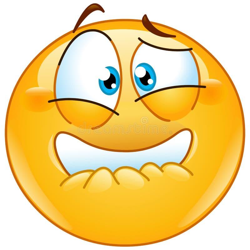 Przel?k?y emoticon ilustracja wektor