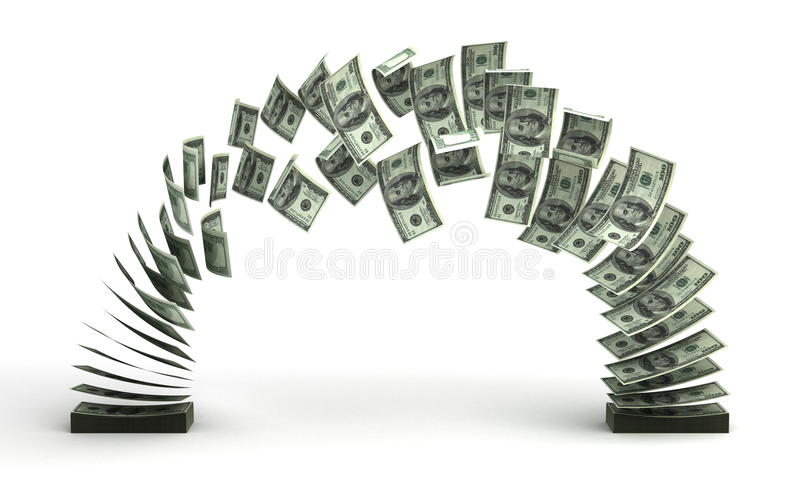 przelew pieniędzy ilustracji