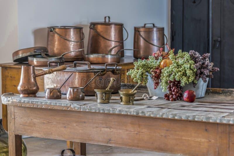 Przelotne spojrzenie królewska kuchnia Palacio da Pena w Sintra fotografia royalty free