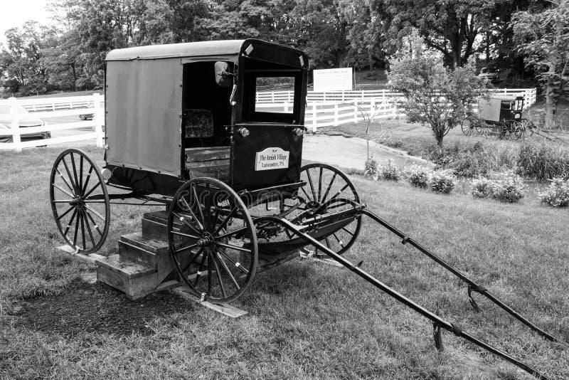 Przelotne spojrzenie tradycyjny styl życia w Amish wiosce, Pennsylwania zdjęcia royalty free