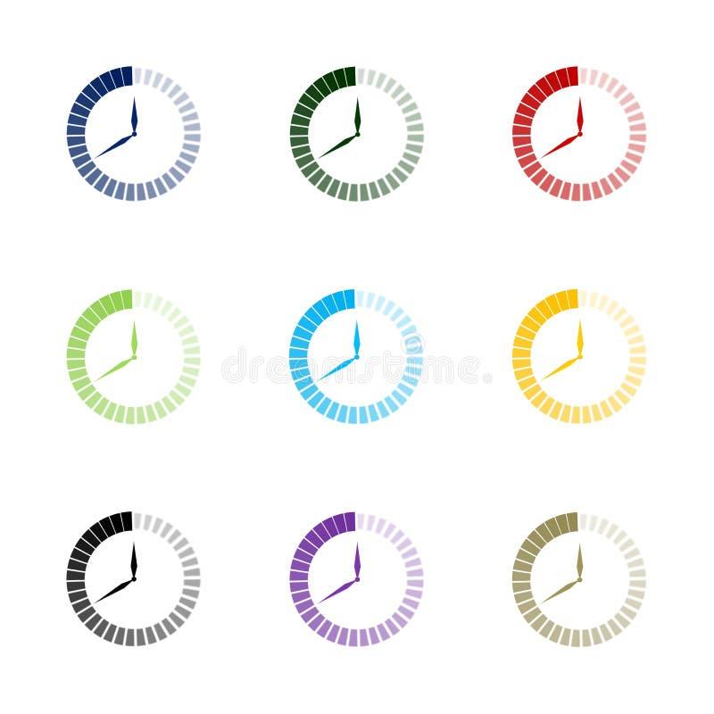 Przelotny czas - set ilustracja wektor