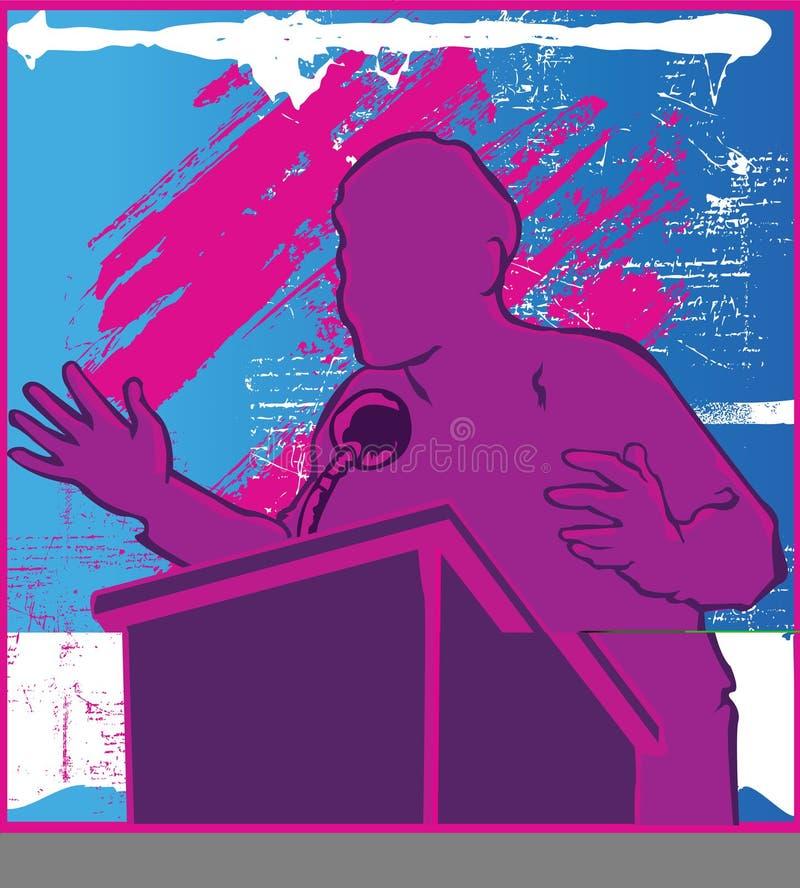 przemówienie polityczne ilustracja wektor