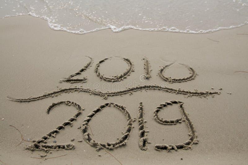 2018/2019 przemian - nowy rok wigilia obraz stock