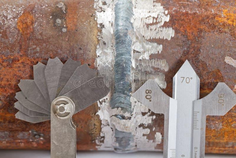 Przemiana od stali nierdzewnej i narzędzi dla projekta i measuri obrazy stock