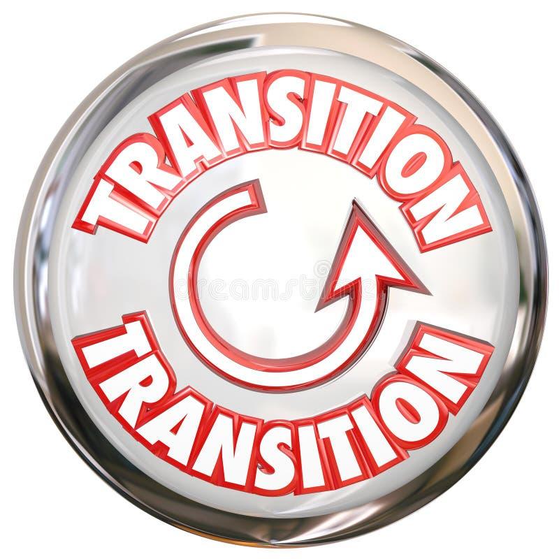 Przemiany słowa guzika ikony zmiany procesu Biały cykl ilustracji