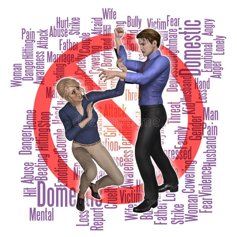 Przemoc Domowej nadużycie ilustracji