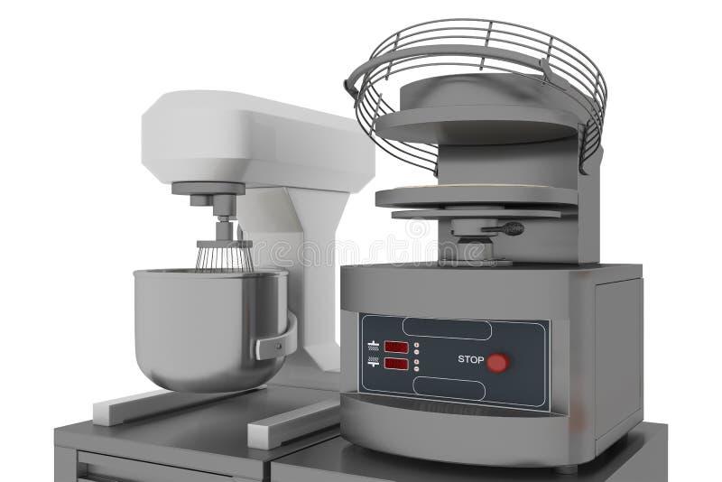 Przemysłowa ugniata maszyny i ciasta prasa obrazy royalty free