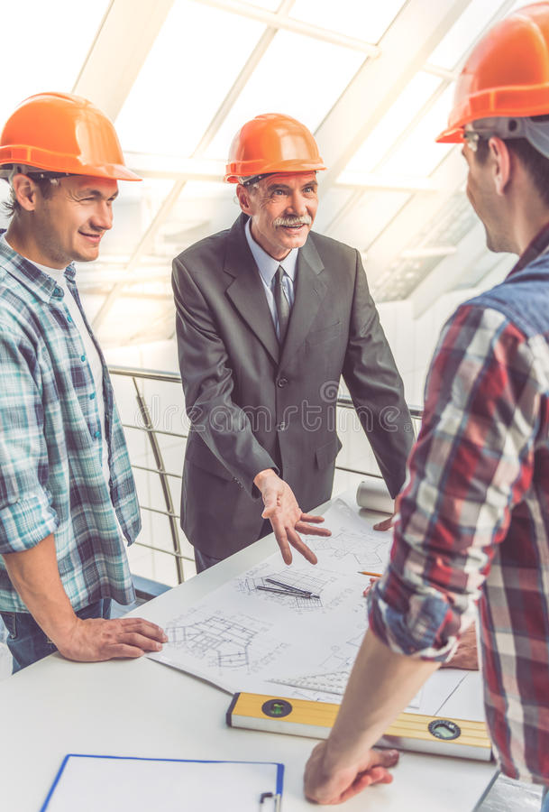 Przemysłów Budowlanych pracownicy zdjęcie stock