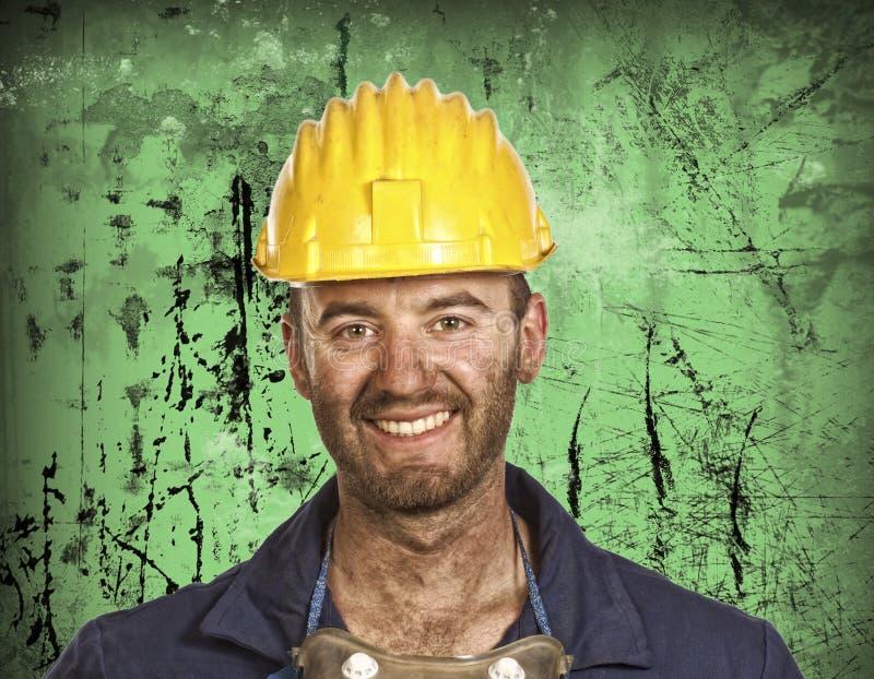 przemysł ciężki portreta pracownik obraz stock