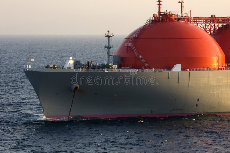 przemysł gazowy lng zbiornikowiec do ropy obrazy stock