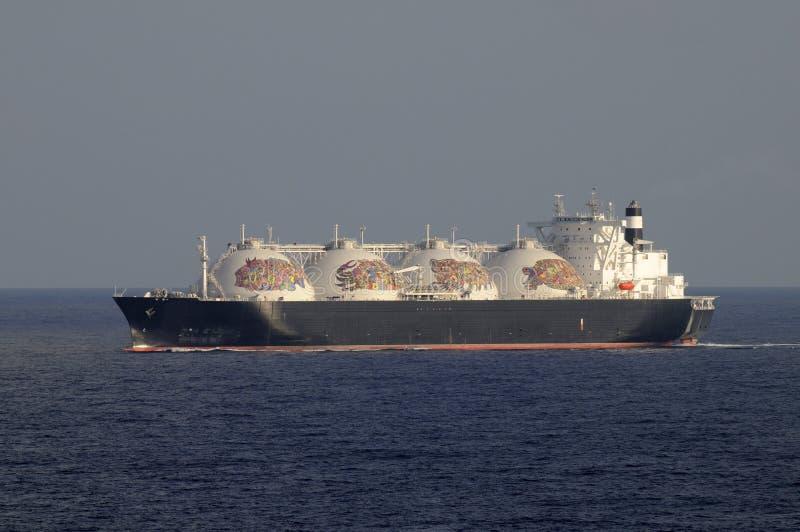 przemysł gazowy lng zbiornikowiec do ropy zdjęcie stock
