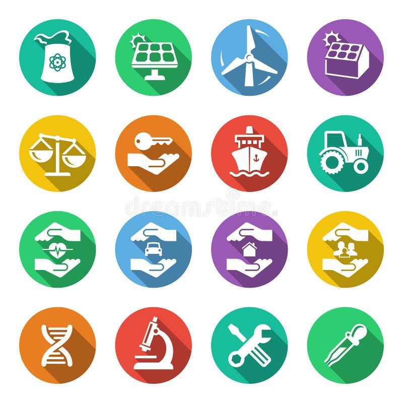 Przemysł ikony 2 ilustracji