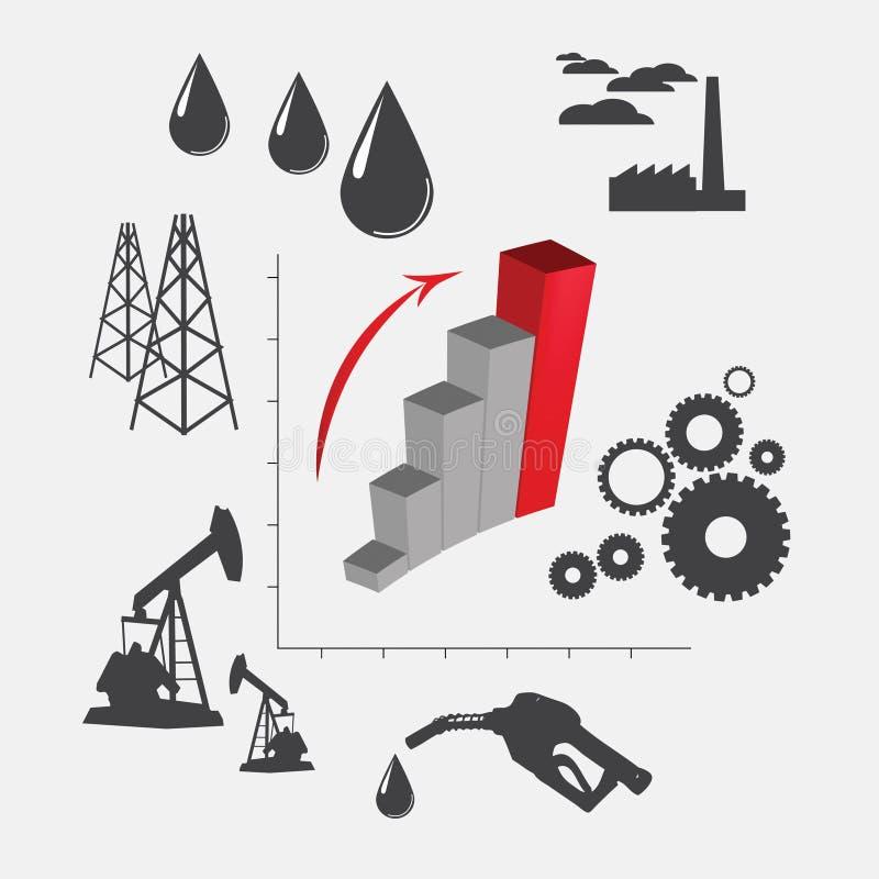 Przemysł naftowy royalty ilustracja