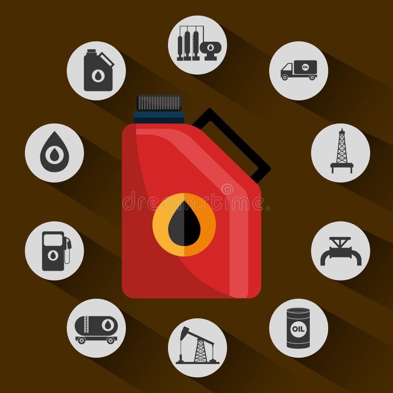 Przemysł naftowy ilustracja wektor