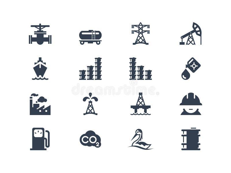 Przemysł paliwowy ikony royalty ilustracja