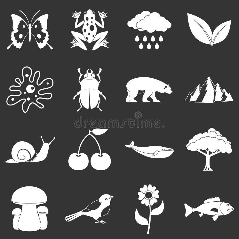 Przemysł paliwowy rzeczy ikony ustawiać siwieją wektor ilustracji