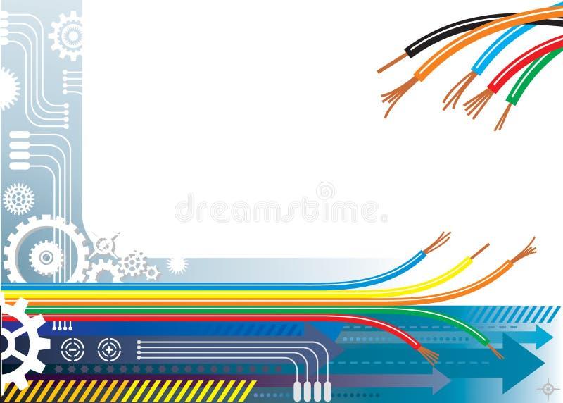 przemysł tła automatyzacji ilustracji