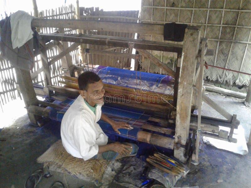 Przemysł taty w Bangladeszu Tu pracują wykwalifikowani ludzie Wiele pracy wykonano w dystrykcie Kushtia Kumarakhali w Bangladeszu obrazy royalty free