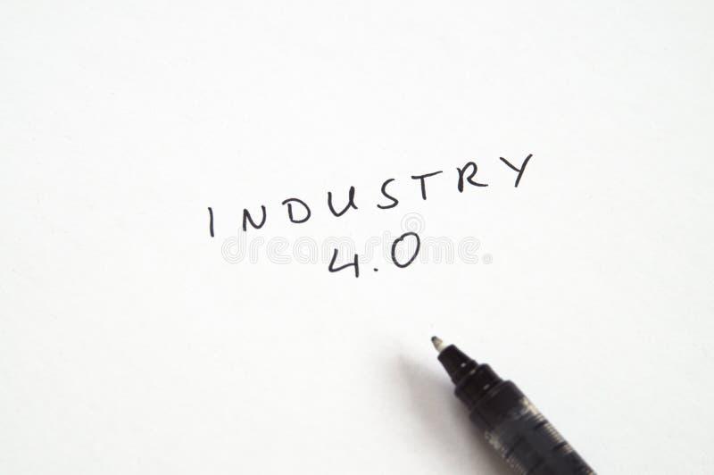 4 przemysł (0) w handwriting zdjęcie royalty free