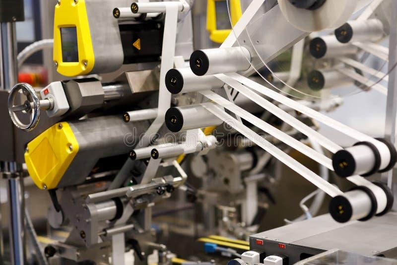 Przemysłowa automatyczna etykietowanie maszyna zdjęcie royalty free