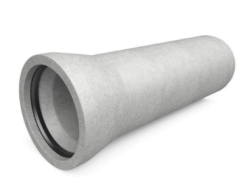 Przemysłowa beton drymba dla kanału ściekowego zdjęcia royalty free