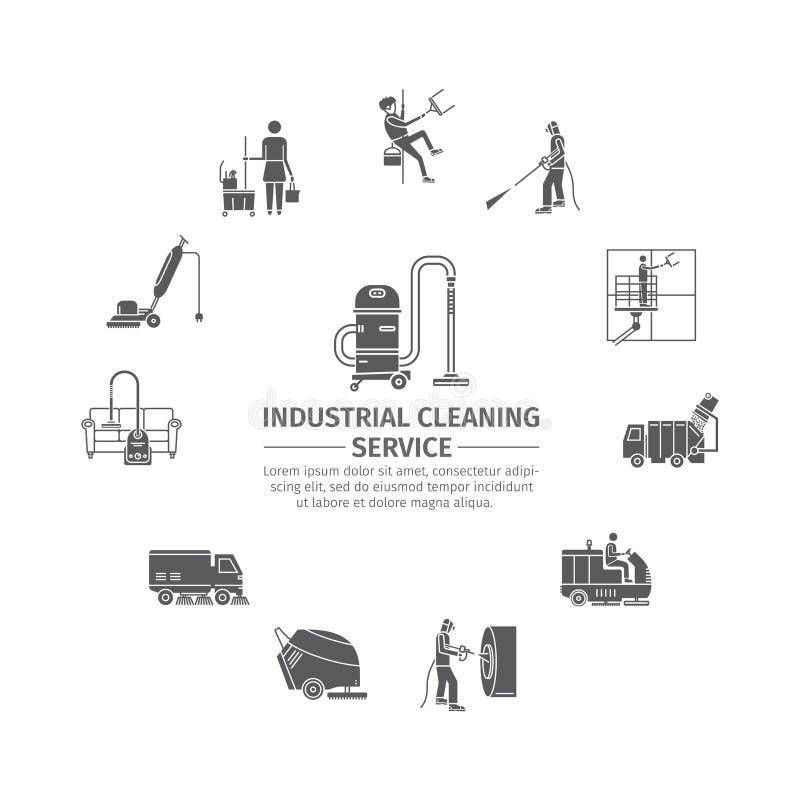 Przemysłowa Cleaning usługa royalty ilustracja