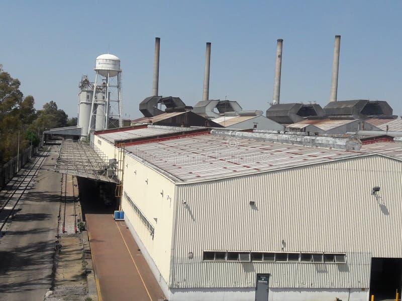 Przemysłowa fabryczna architektura w Meksyk Ecatepec obrazy royalty free