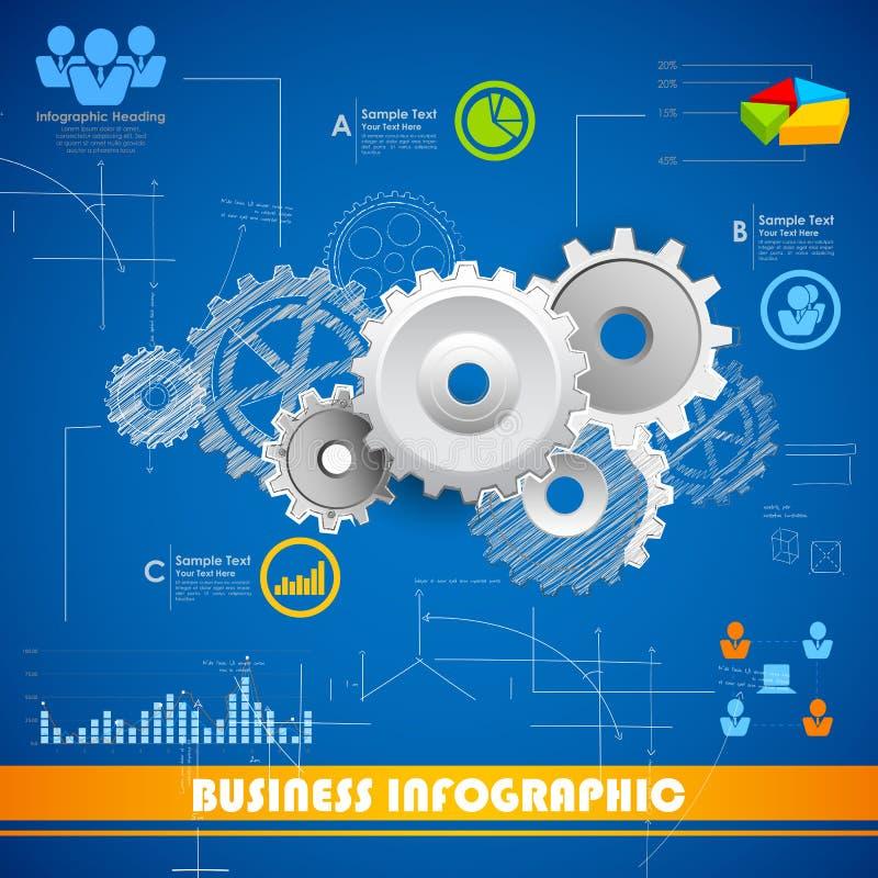 Przemysłowa Infographics mapa ilustracja wektor