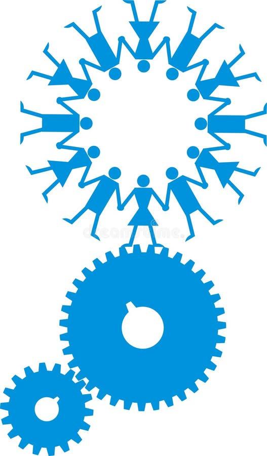 przemysłowa loga mężczyzna władza royalty ilustracja
