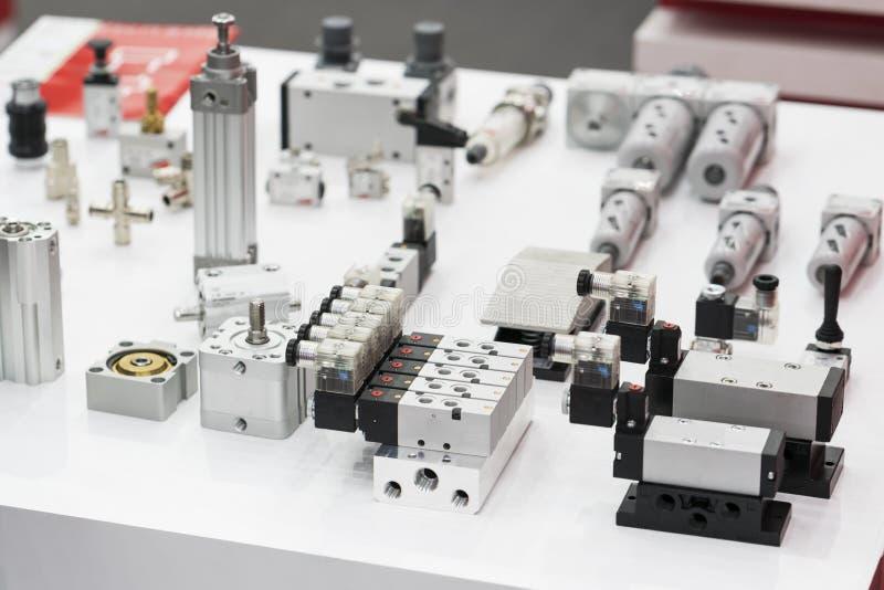 Przemysłowa solenoid klapa dla ciecza, olej, powietrze, pneumatyczny, hydra obrazy stock